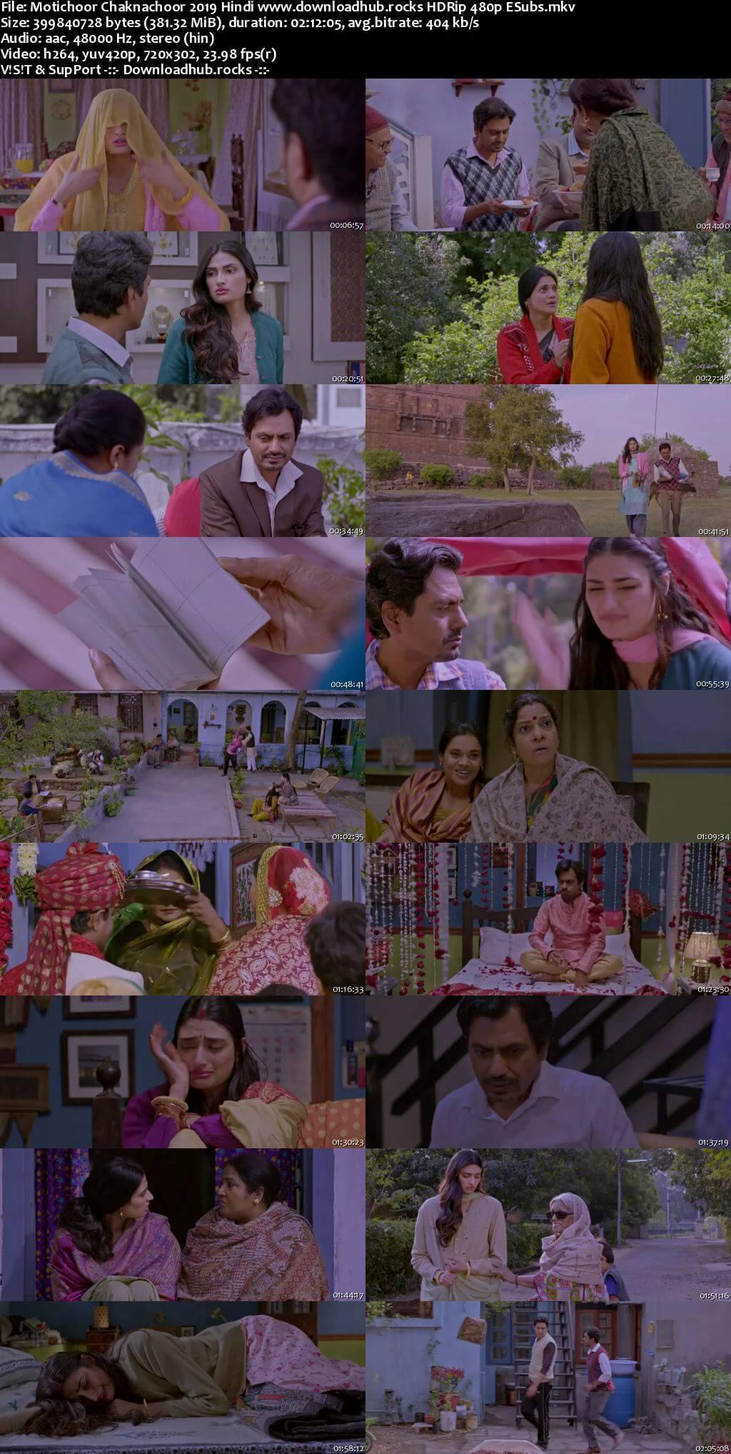 Motichoor Chaknachoor 2019 Hindi 350MB HDRip 480p ESubs