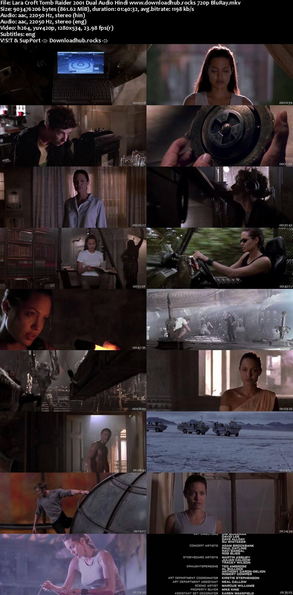 Lara Croft Tomb Raider 2001 Hindi Dual Audio 720p BluRay ESubs