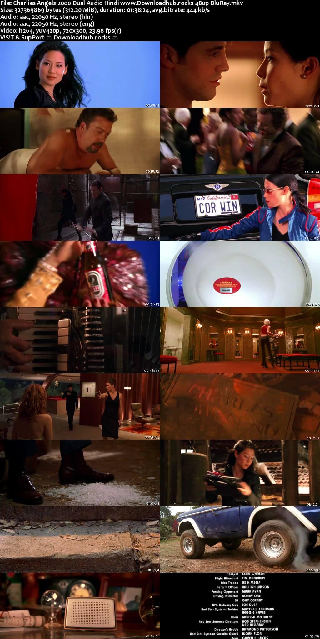 Charlies Angels 2000 Hindi Dual Audio 300MB BluRay 480p ESubs