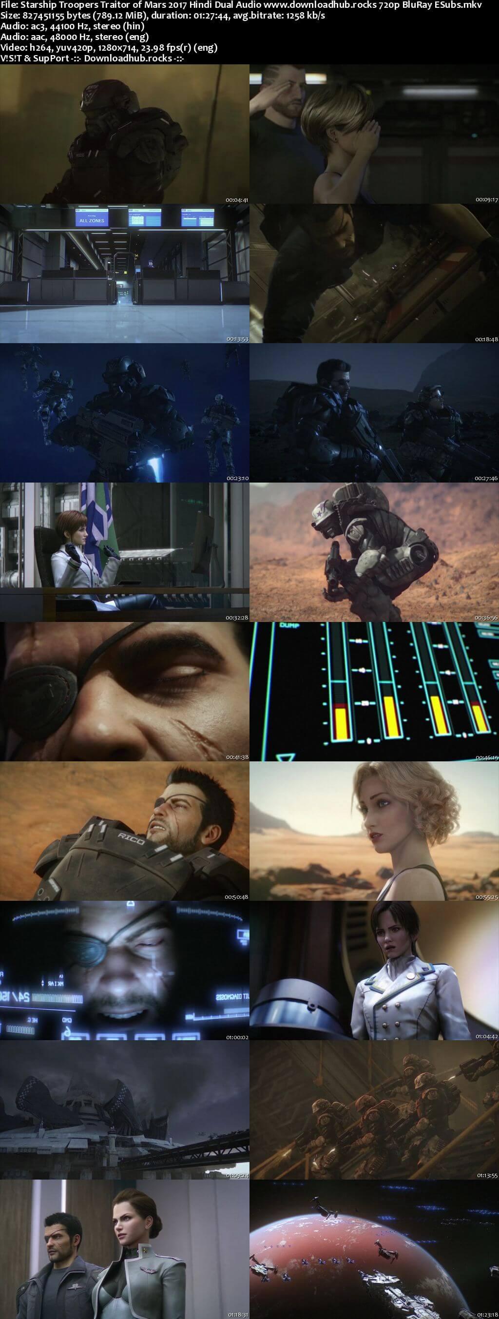 Starship Troopers Traitor of Mars 2017 Hindi Dual Audio 720p BluRay ESubs