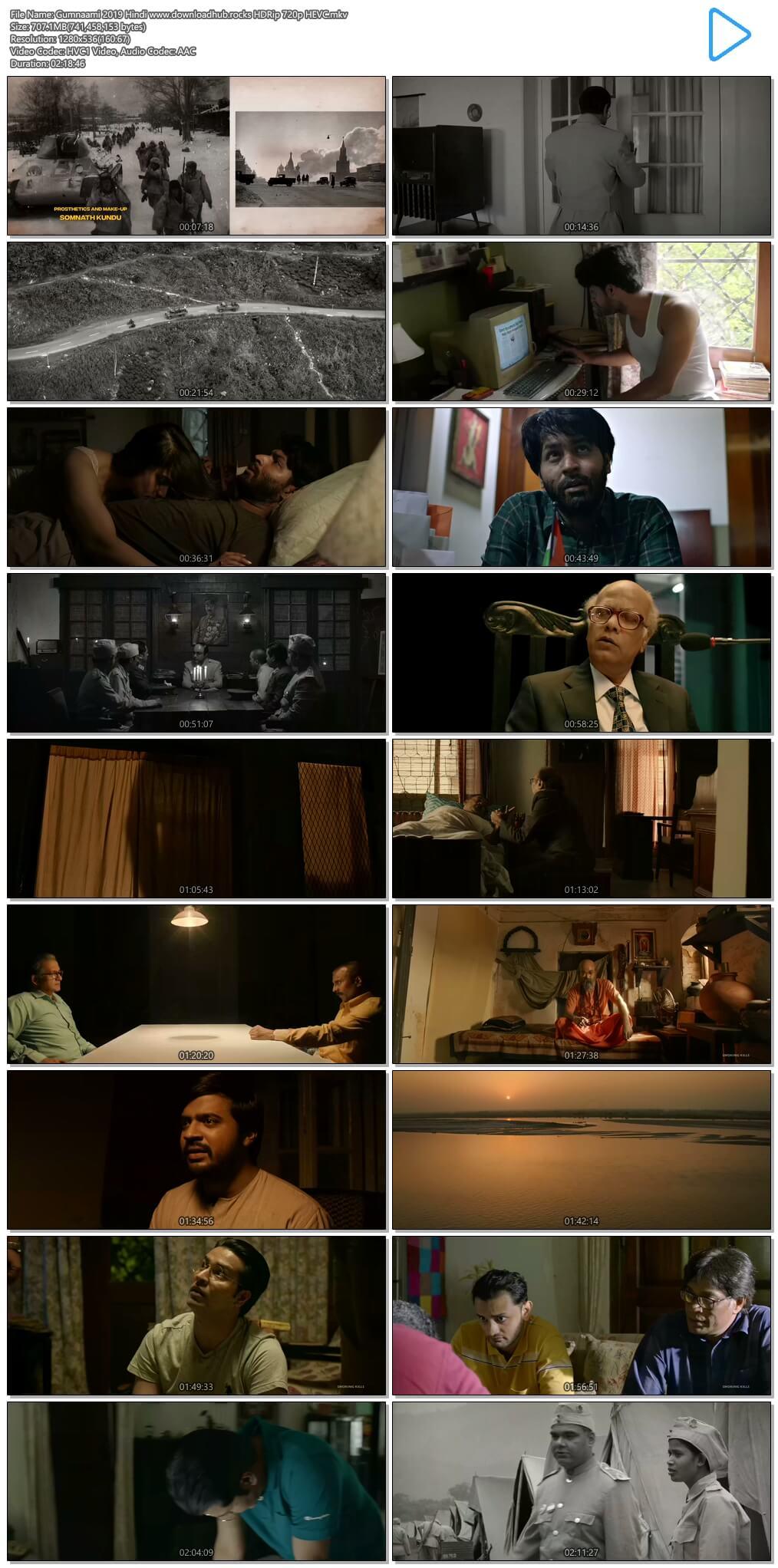 Gumnaami 2019 Hindi 700MB HDRip 720p HEVC