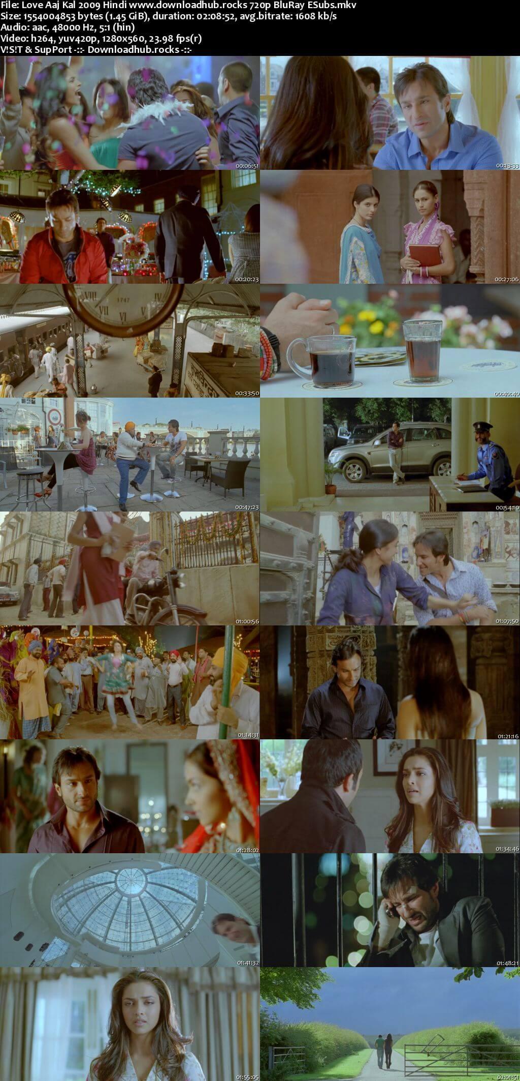 Love Aaj Kal 2009 Hindi 720p BluRay ESubs