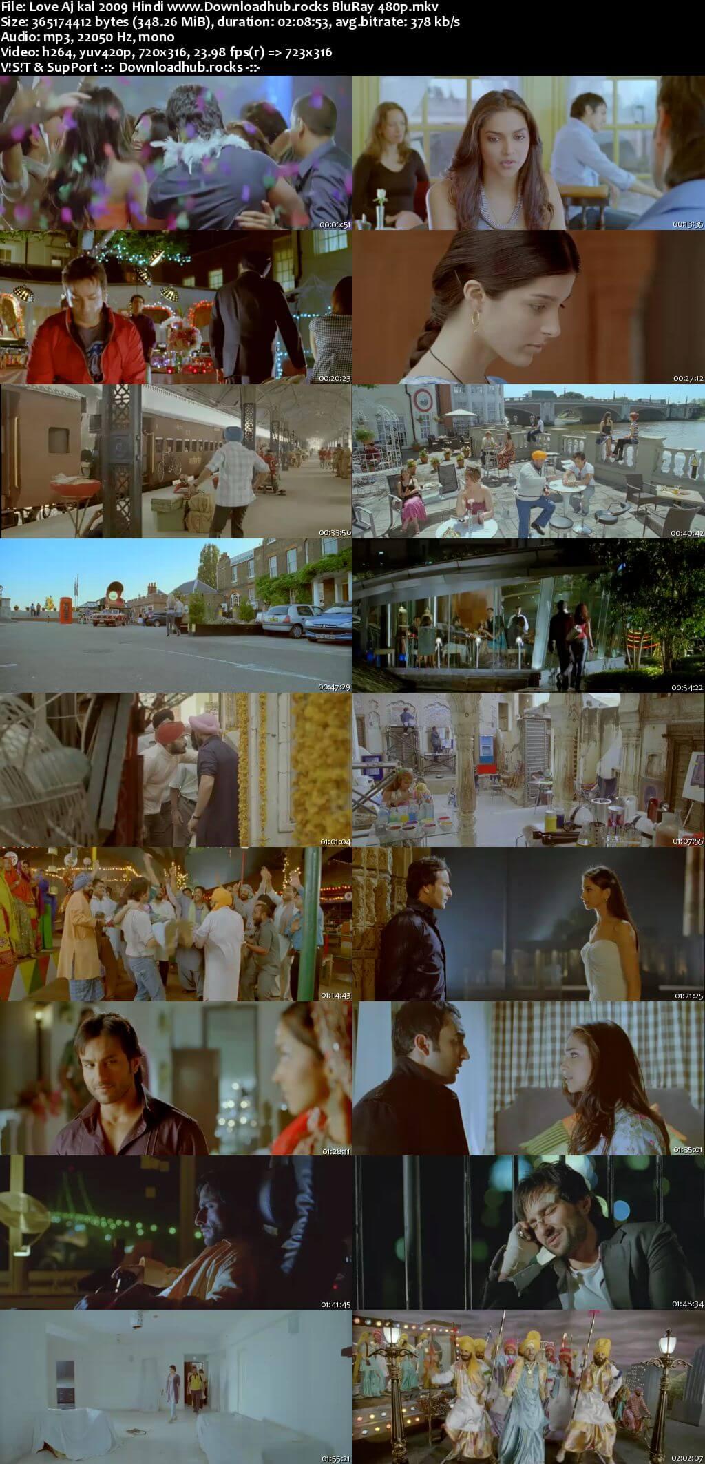 Love Aaj Kal 2009 Hindi 350MB BluRay 480p ESubs