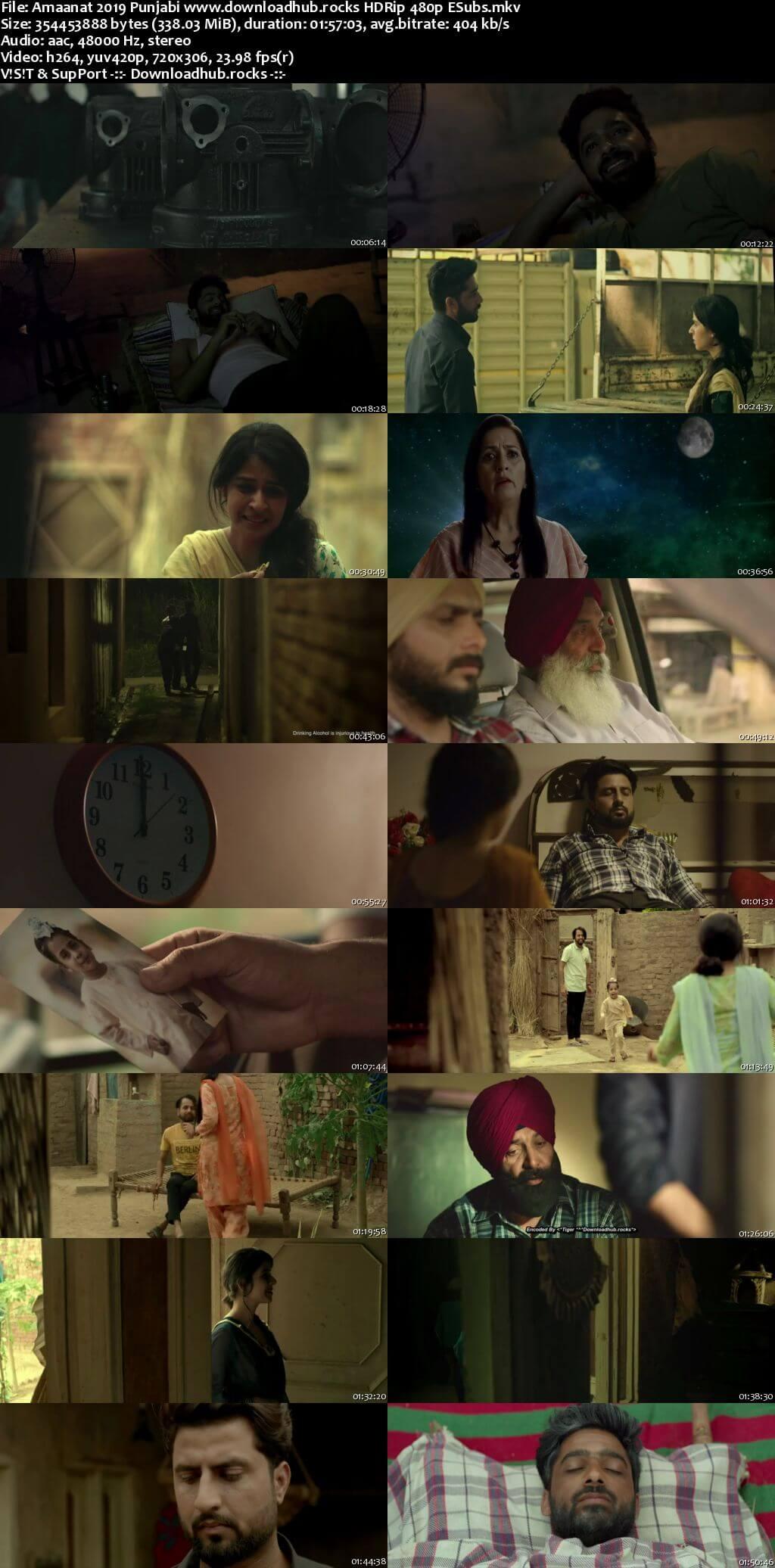 Amaanat 2019 Punjabi 300MB HDRip 480p ESubs