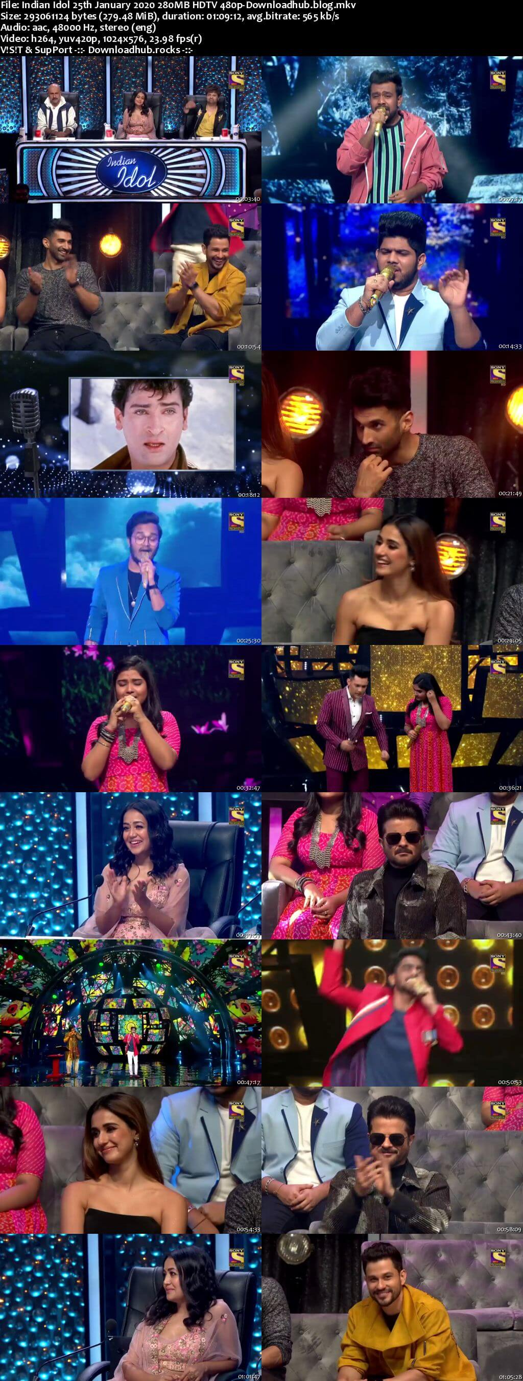 Indian Idol 25 January 2020 Episode 30 HDTV 480p