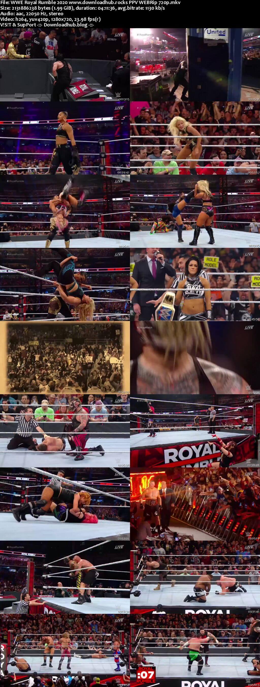 WWE Royal Rumble 26th January 2020 720p 999MB PPV WEBRip 480p