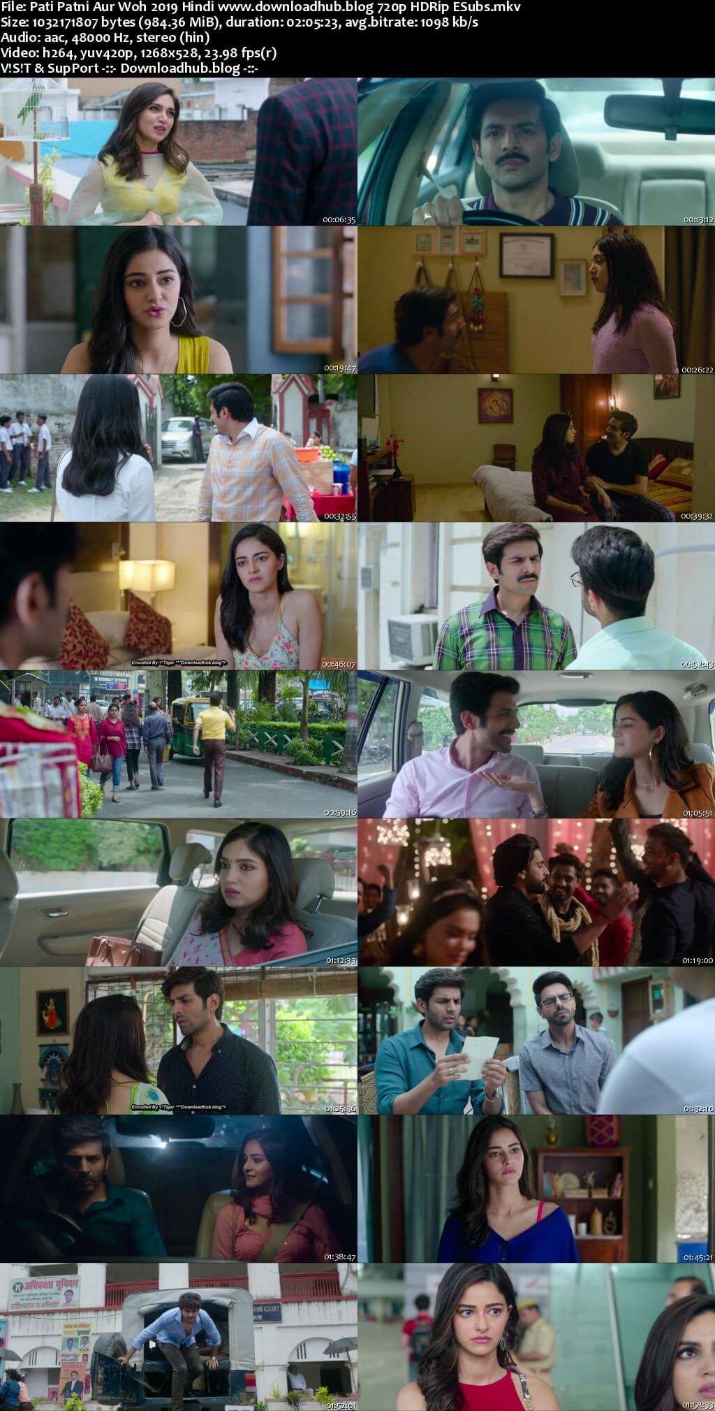 Pati Patni Aur Woh 2019 Hindi 720p HDRip ESubs