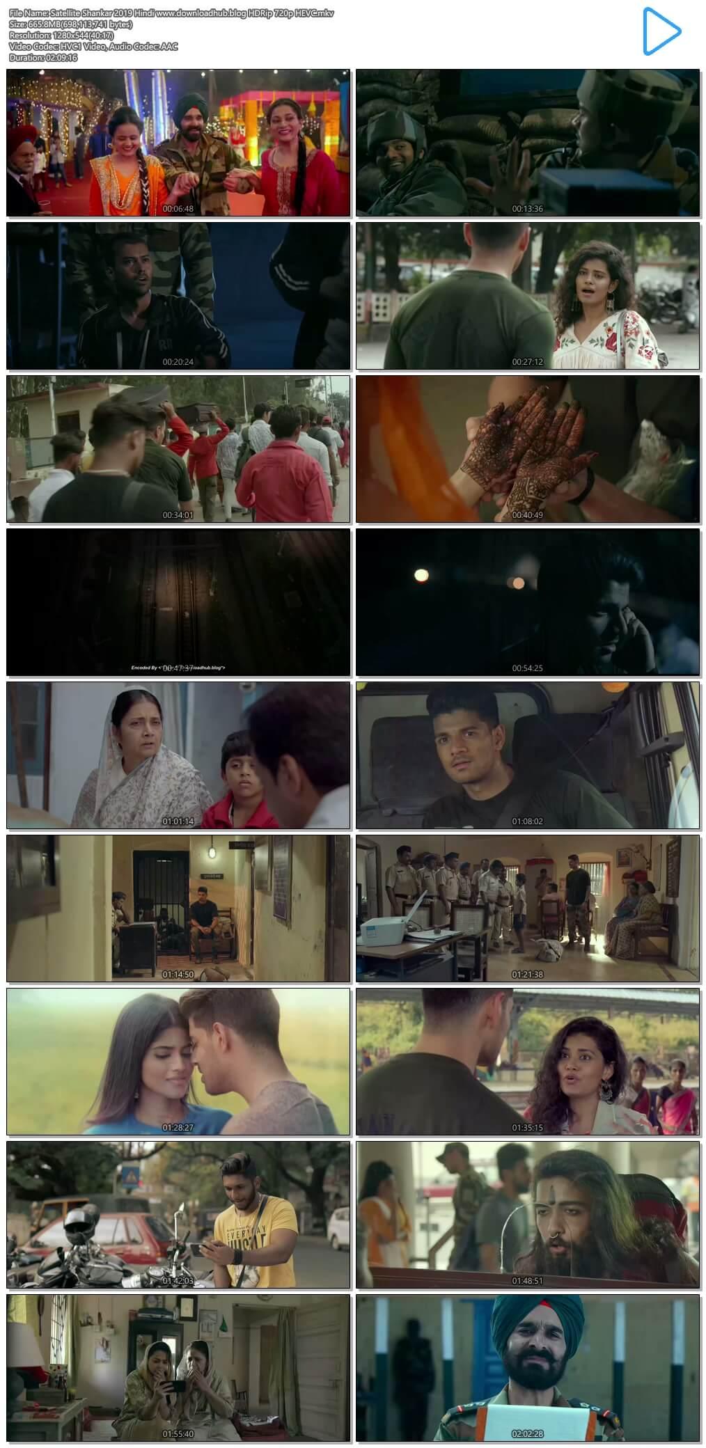 Satellite Shankar 2019 Hindi 650MB HDRip 720p ESubs HEVC
