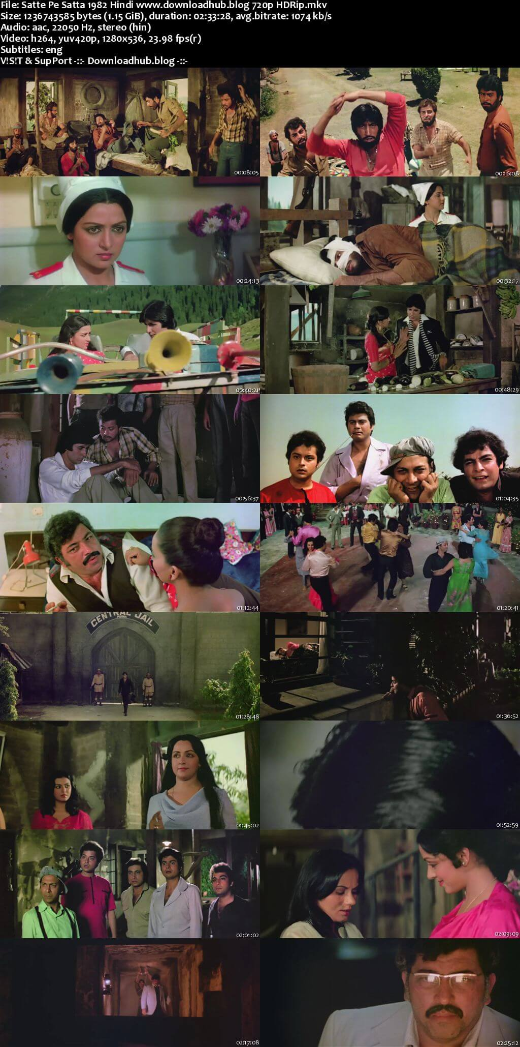 Satte Pe Satta 1982 Hindi 720p HDRip ESubs