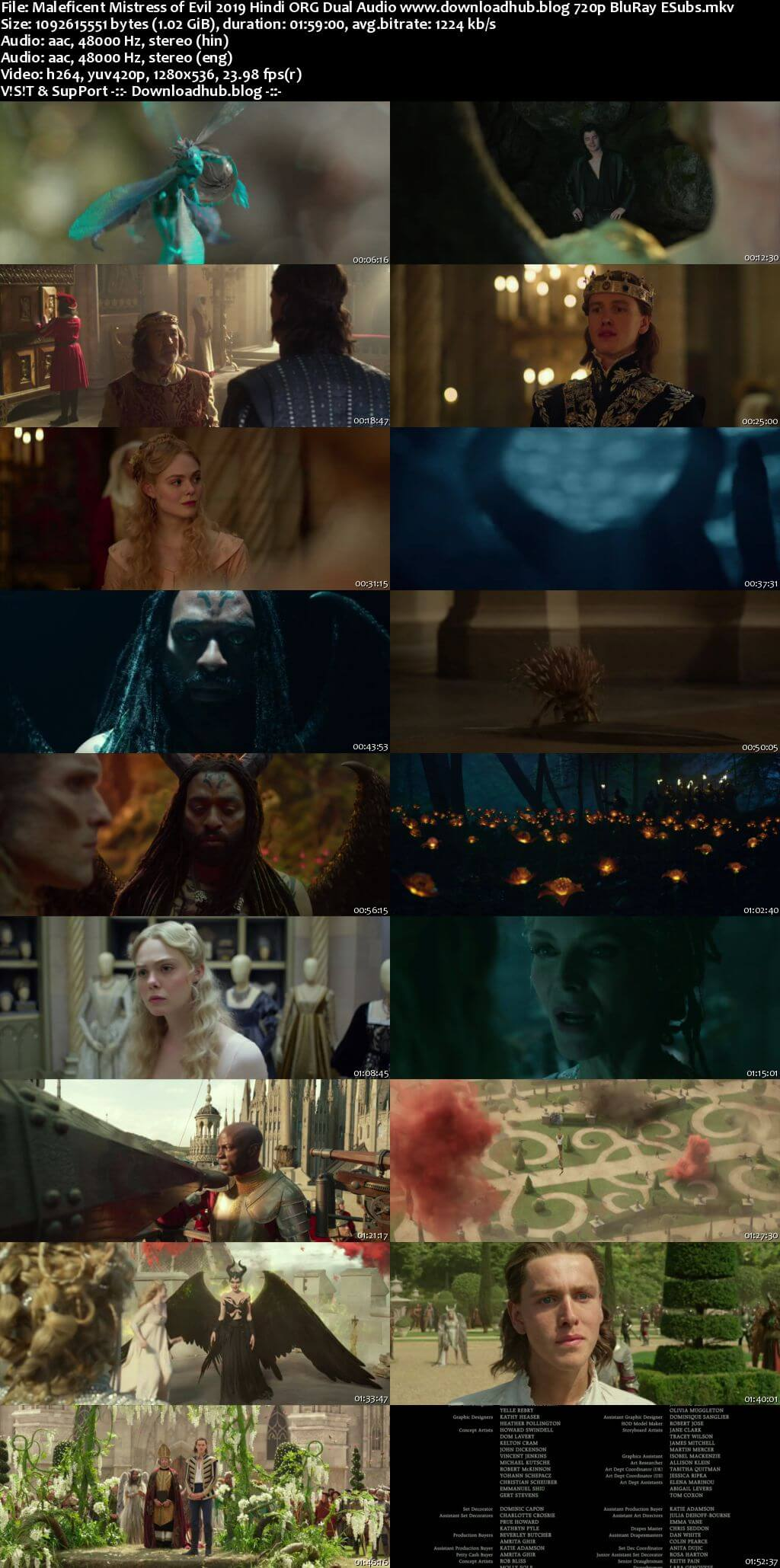 Maleficent Mistress of Evil 2019 Hindi ORG Dual Audio 720p BluRay ESubs