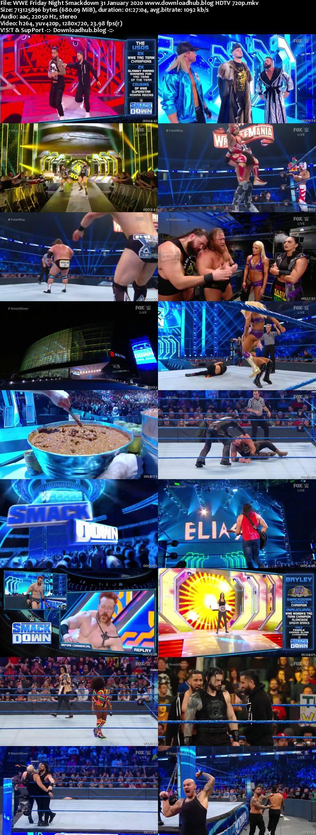 WWE Friday Night Smackdown 31st January 2020 720p 300MB HDTV 480p