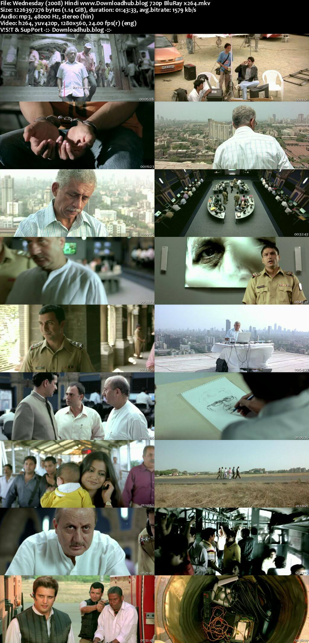 A Wednesday 2008 Hindi 720p BluRay x264