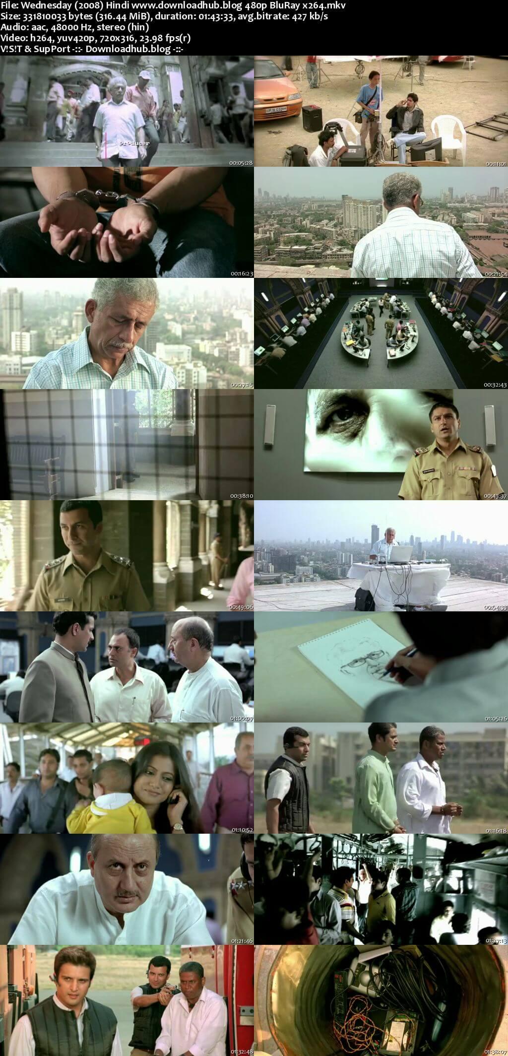 A Wednesday 2008 Hindi 300MB BluRay 480p