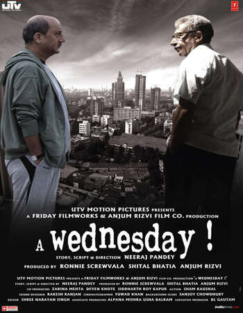 A Wednesday 2008 Full Hindi Movie 720p BRRip Free Download