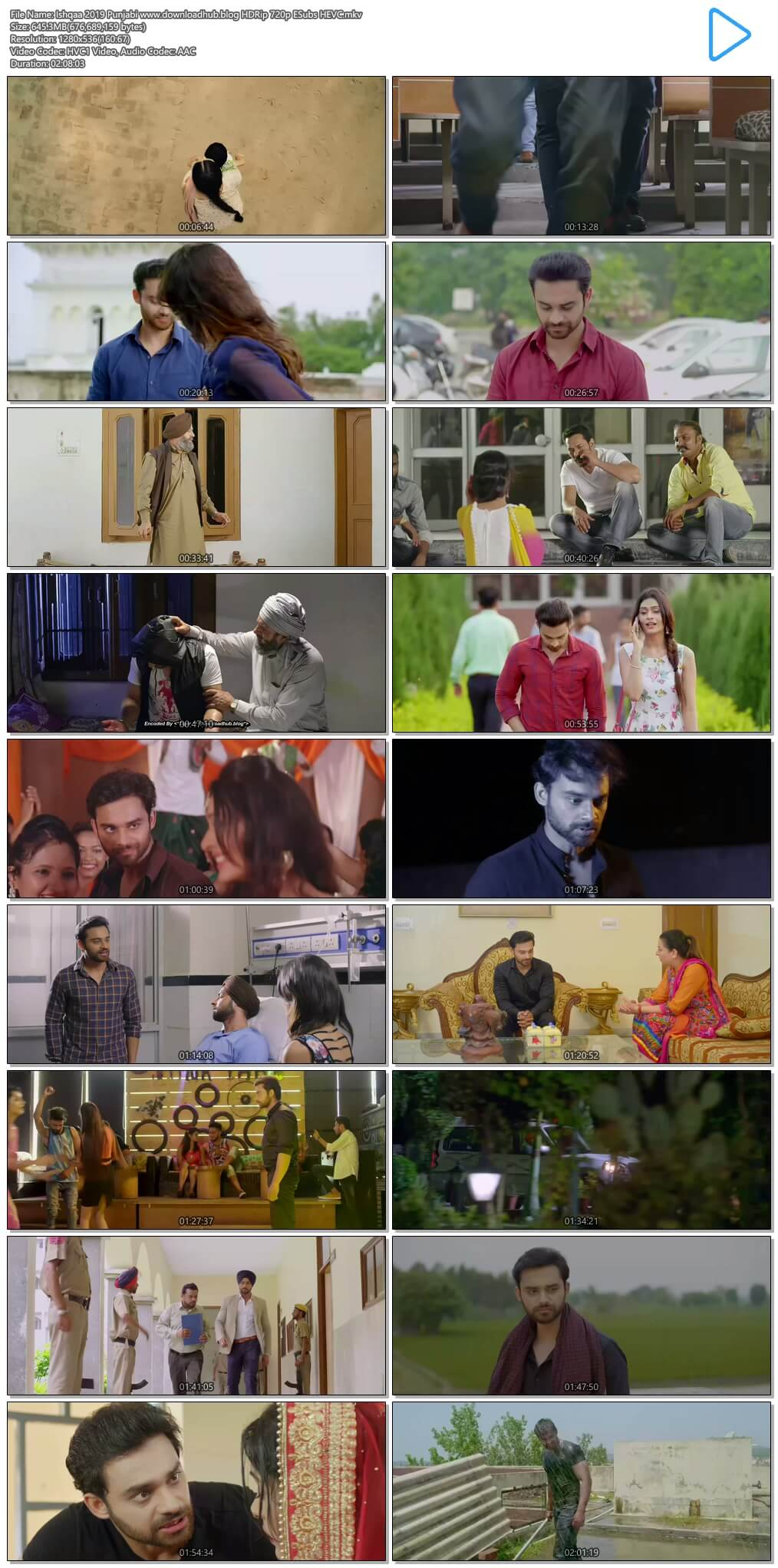 Ishqaa 2019 Punjabi 650MB HDRip 720p ESubs HEVC