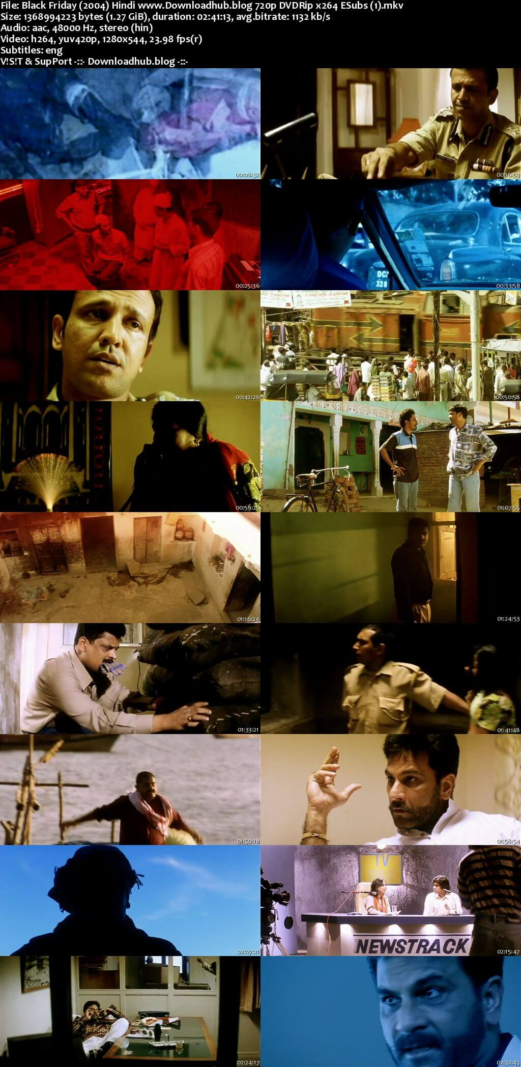 Black Friday 2004 Hindi 720p DVDRip ESubs