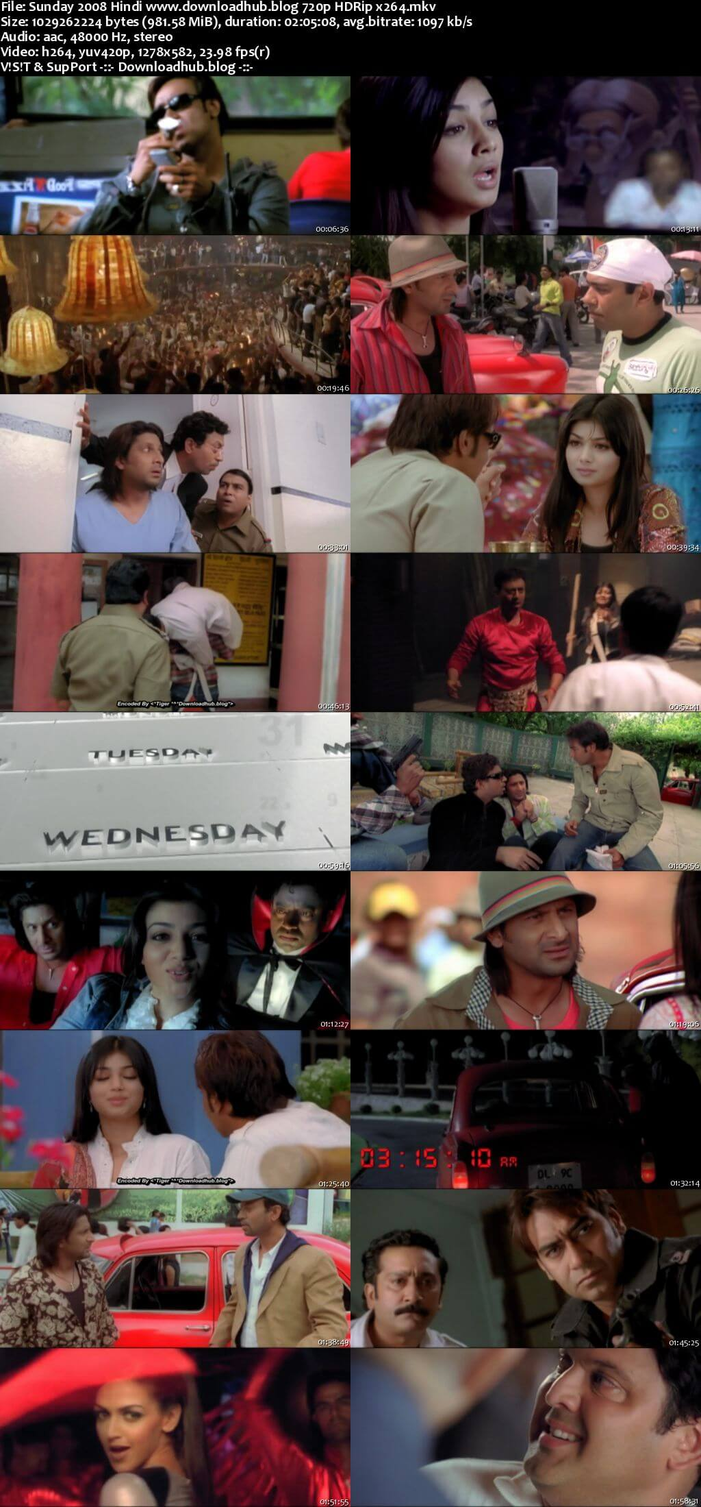 Sunday 2008 Hindi 720p HDRip x264