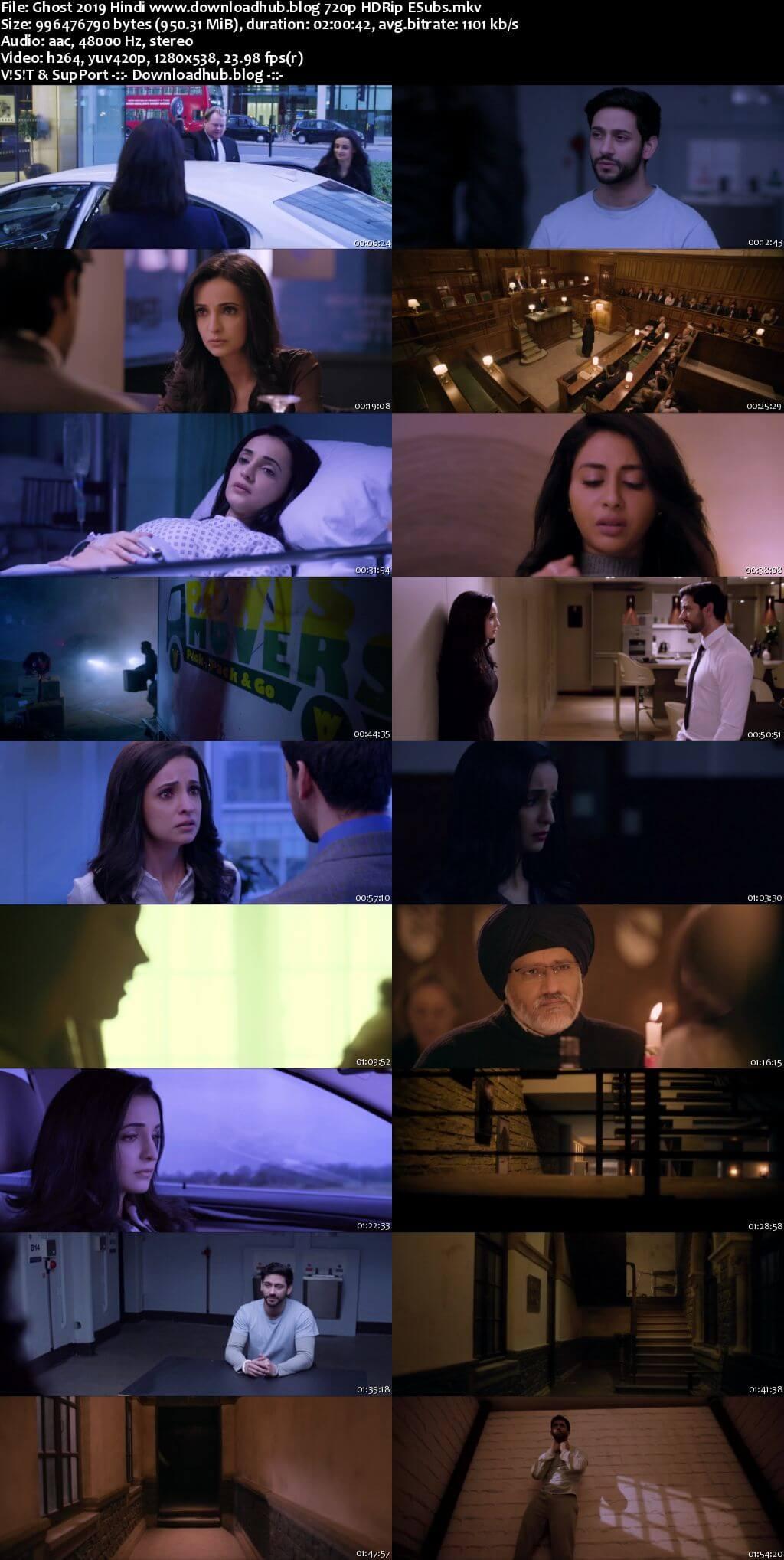 Ghost 2019 Hindi 720p HDRip ESubs