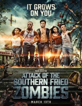 Attack of the Southern Fried Zombies 2017 Hindi Dual Audio BRRip Full Movie 480p Download