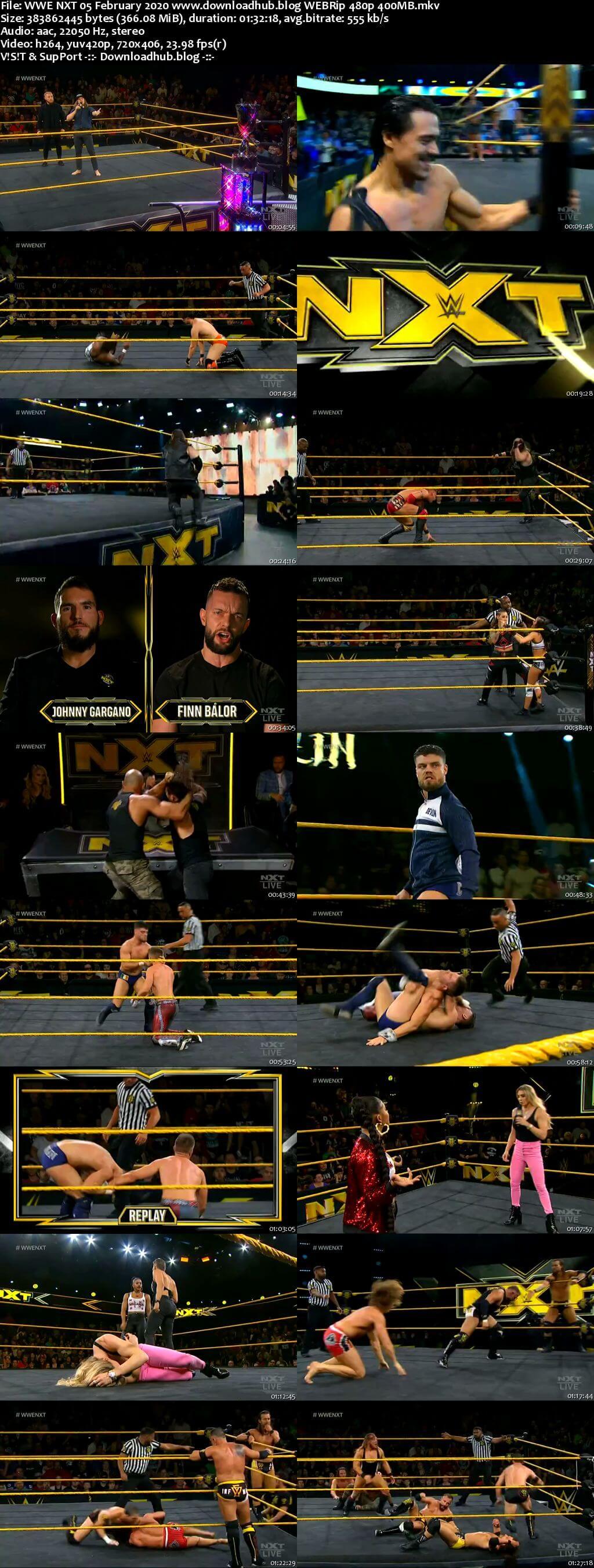 WWE NXT 5th February 2020 350MB HDTV 480p