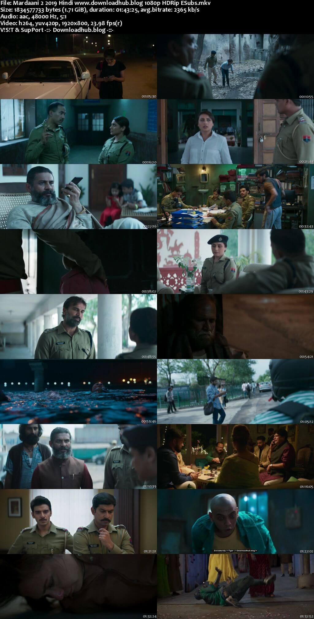 Mardaani 2 2019 Hindi 1080p HDRip ESubs