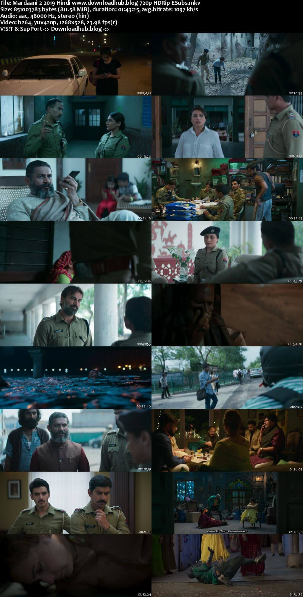 Mardaani 2 2019 Hindi 720p HDRip ESubs