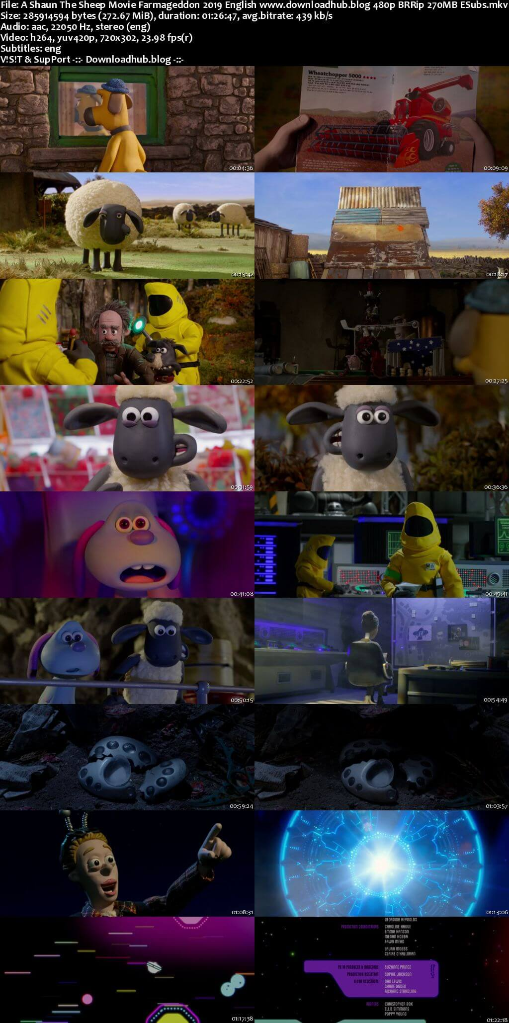 A Shaun the Sheep Movie Farmageddon 2019 English 270MB BRRip 480p ESubs