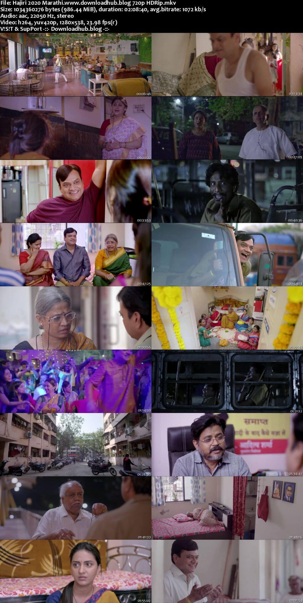 Hajiri 2020 Marathi 720p HDRip x264
