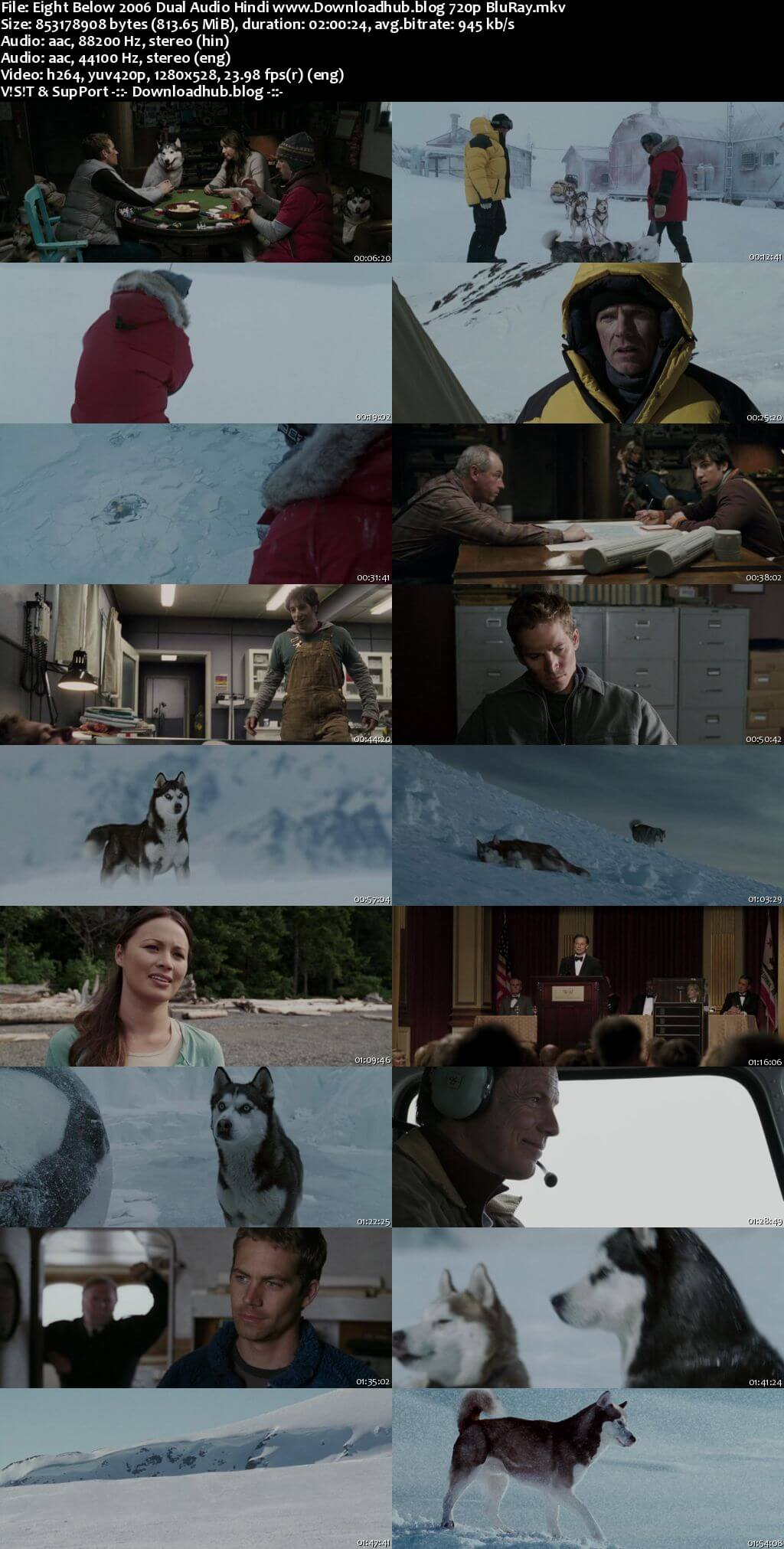 Eight Below 2006 Hindi Dual Audio 720p BluRay ESubs