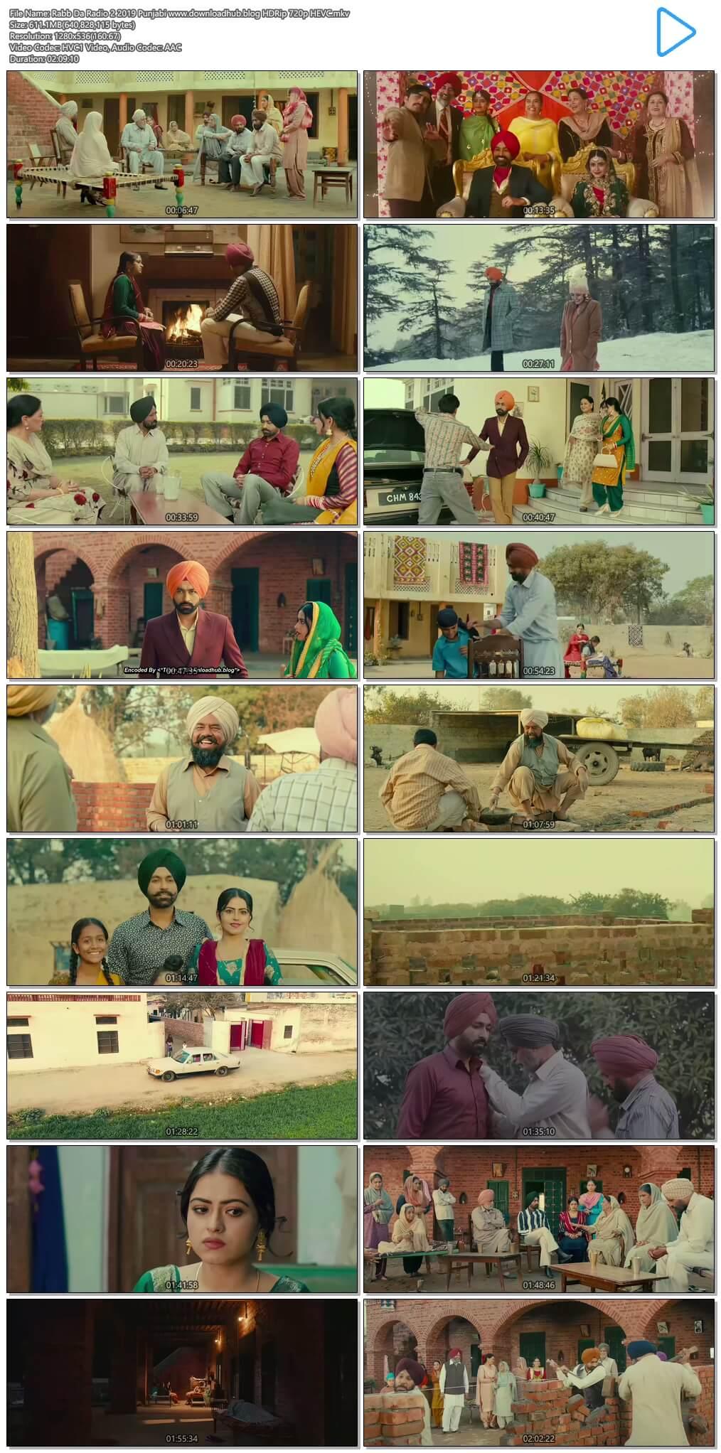 Rabb Da Radio 2 2019 Punjabi 600MB HDRip 720p HEVC