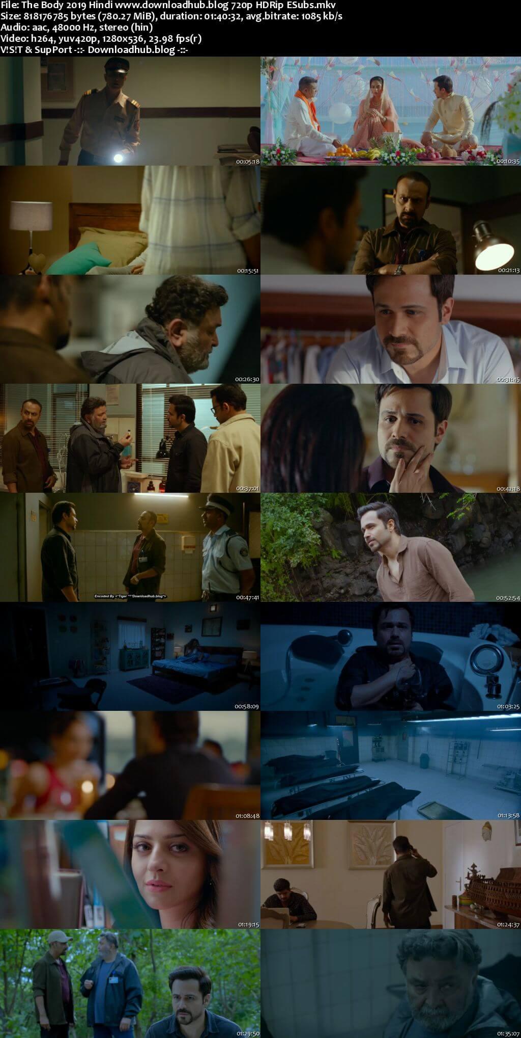 The Body 2019 Hindi 720p HDRip ESubs