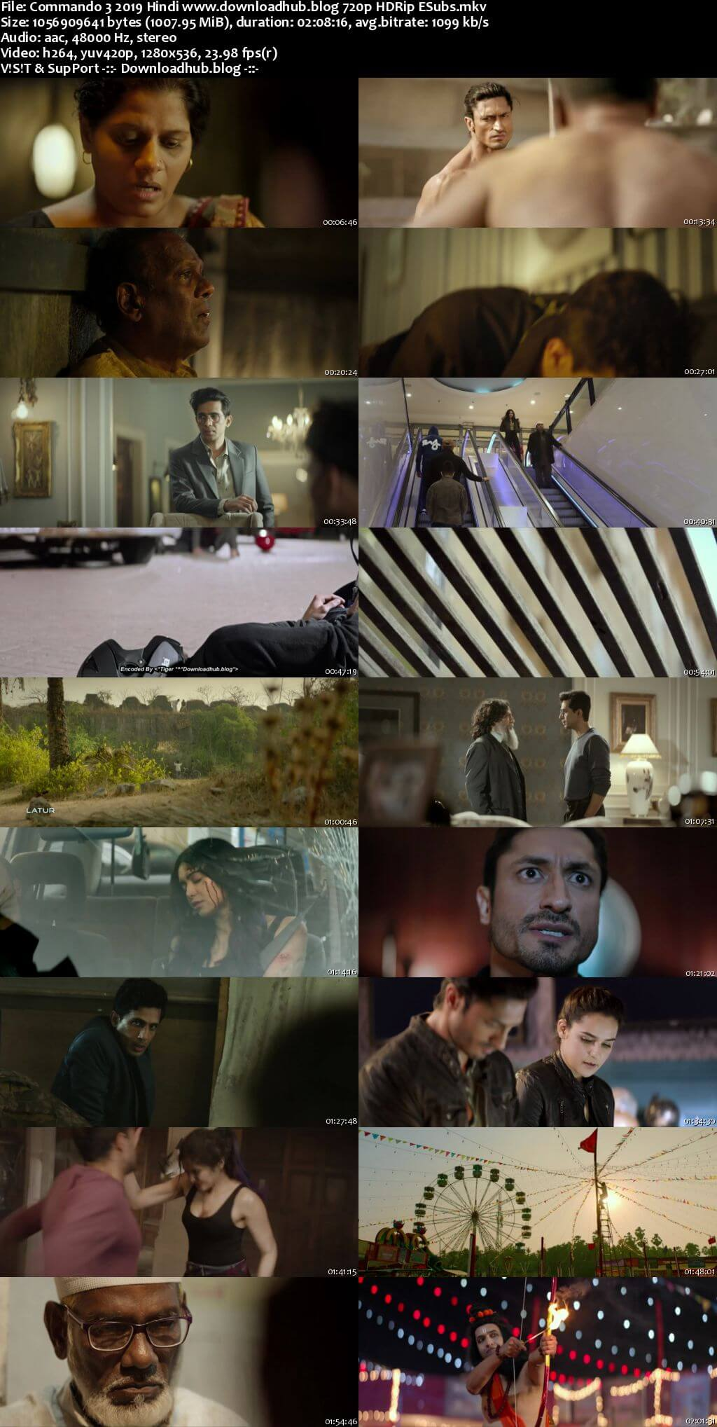 Commando 3 2019 Hindi 720p HDRip ESubs