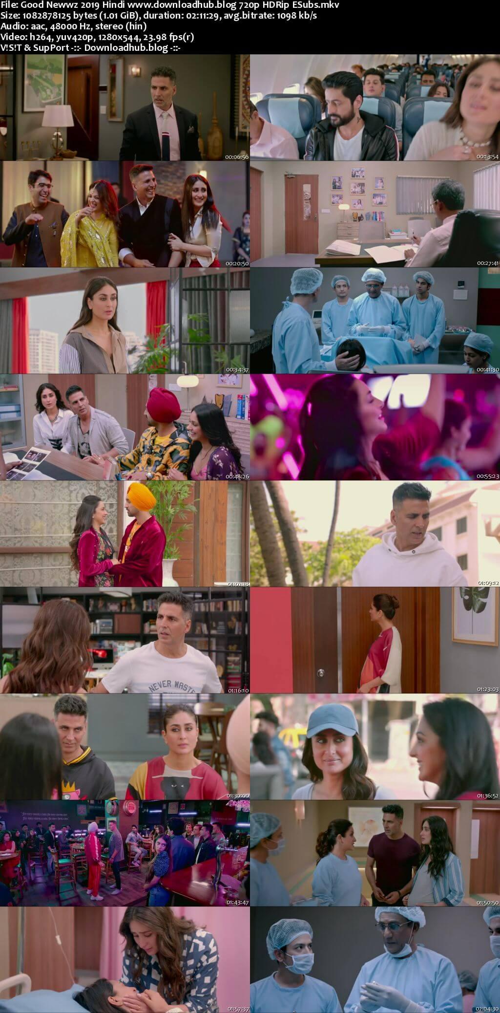 Good Newwz 2019 Hindi 720p HDRip ESubs