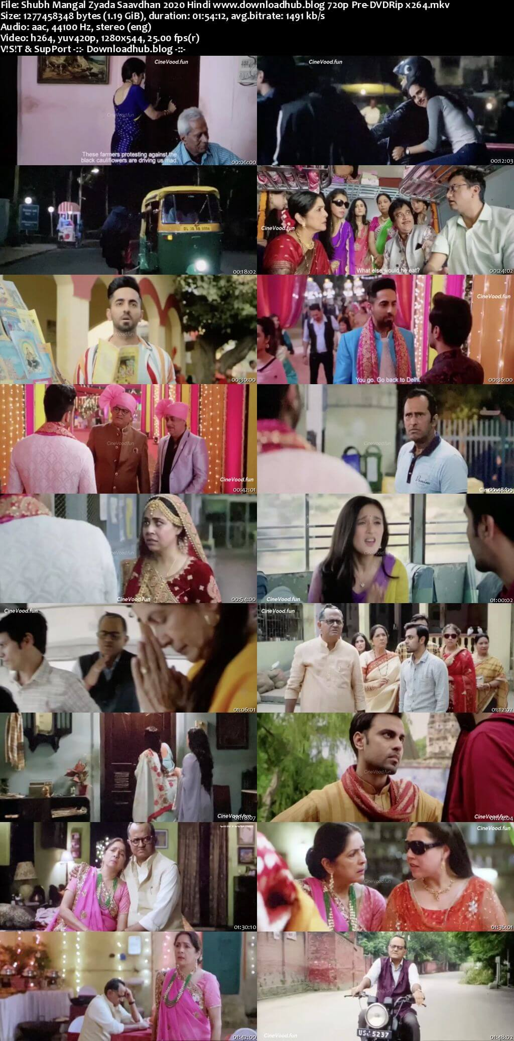 Shubh Mangal Zyada Saavdhan 2020 Hindi 720p 480p Pre-DVDRip x264