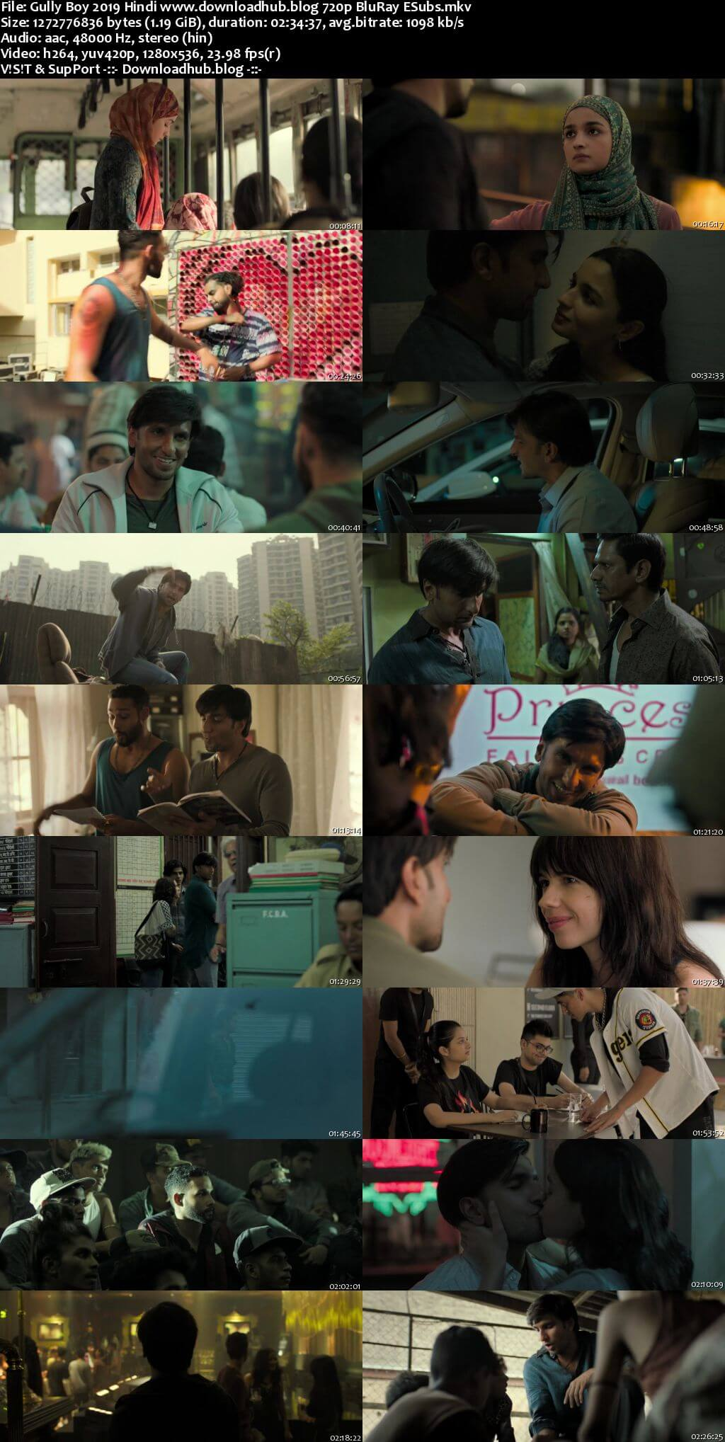 Gully Boy 2019 Hindi 720p BluRay ESubs