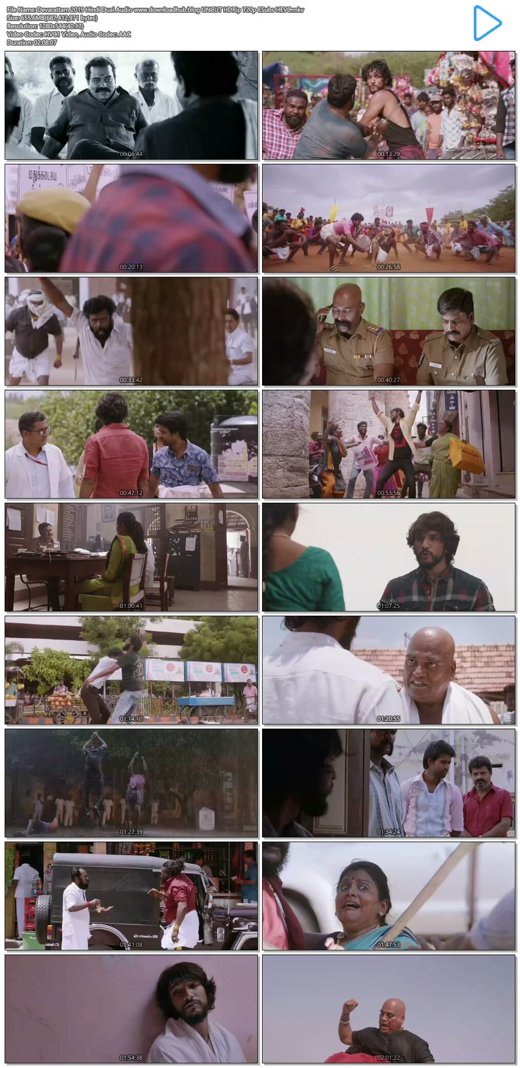 Devarattam 2019 Hindi Dual Audio 650MB UNCUT HDRip 720p ESubs HEVC