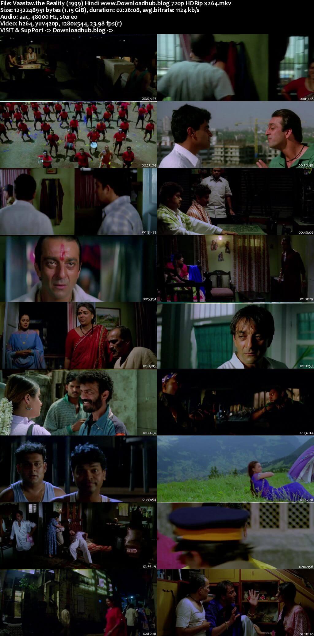 Vaastav The Reality 1999 Hindi 720p HDRip x264