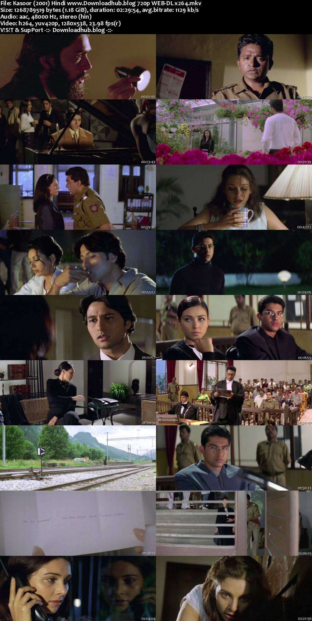 Kasoor 2001 Hindi 720p HDRip x264