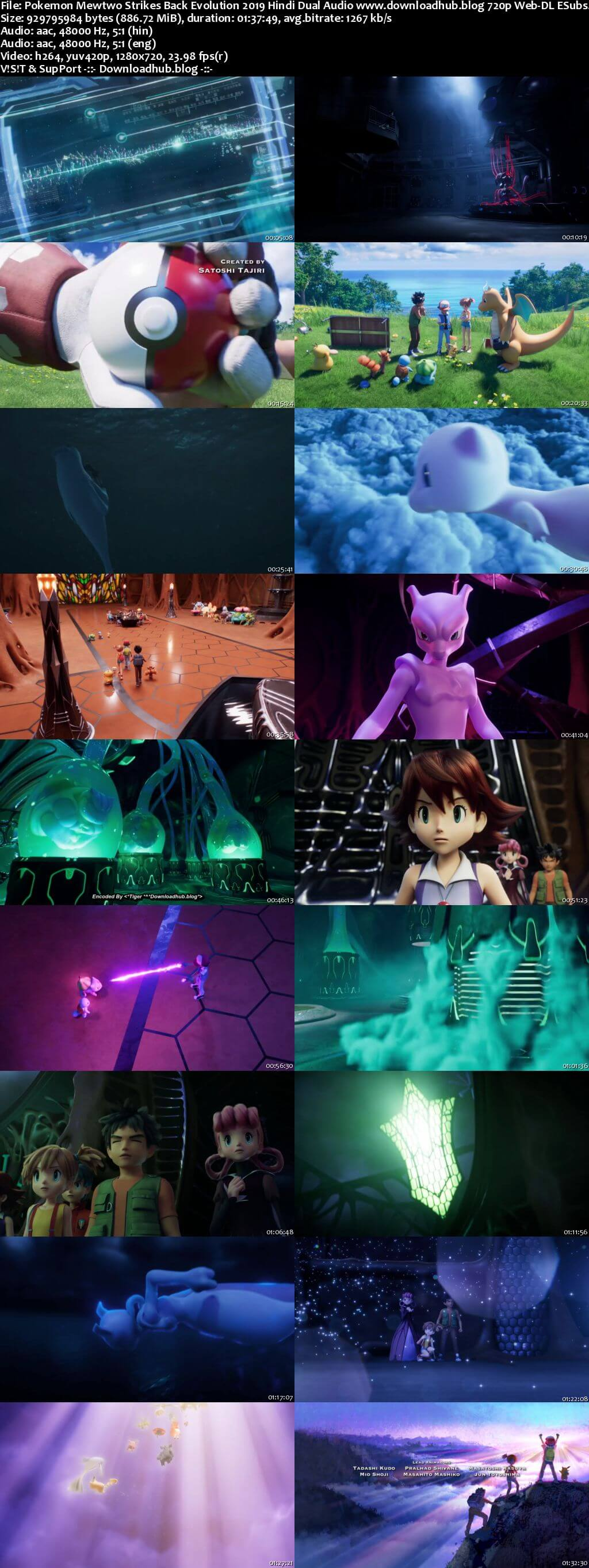 Pokemon Mewtwo Strikes Back Evolution 2019 Hindi Dual Audio 720p Web-DL ESubs
