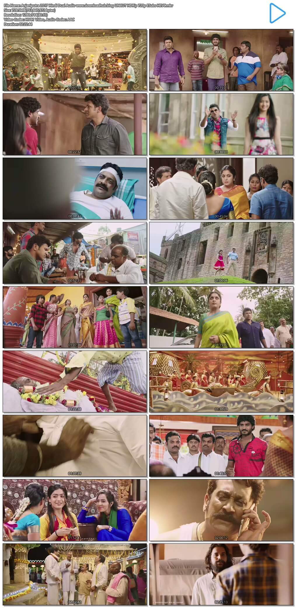 Anjaniputra 2017 Hindi Dual Audio 700MB UNCUT HDRip 720p ESubs HEVC