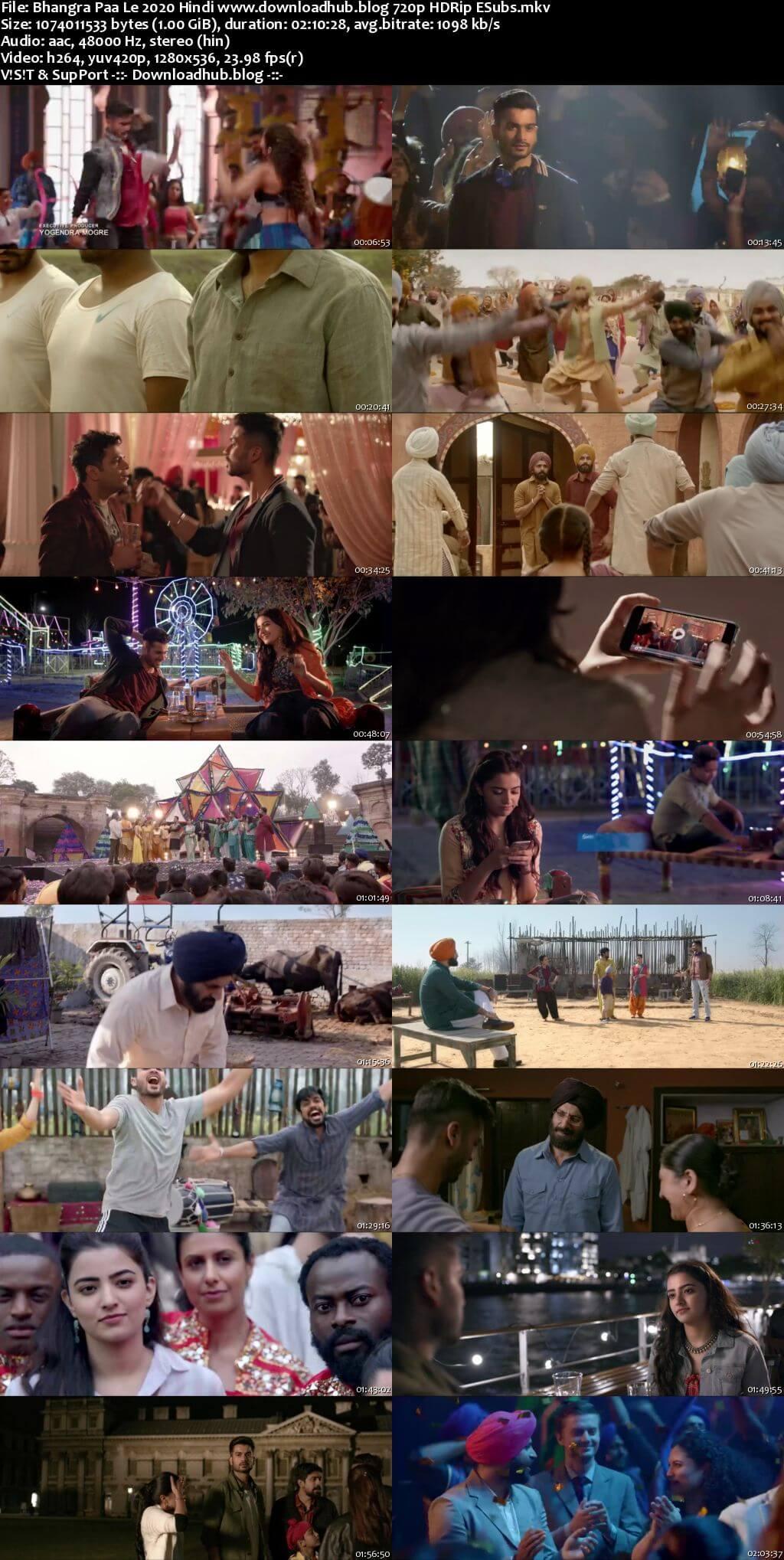 Bhangra Paa Le 2020 Hindi 720p HDRip ESubs