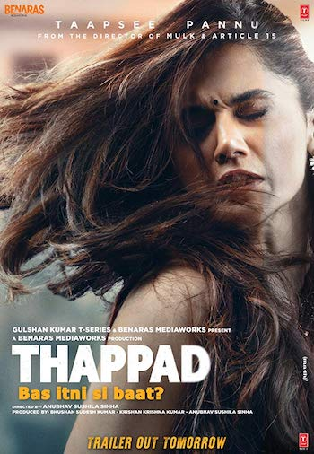 Thappad Full Movie (WEB-DL Print) Download | 480p (400MB) | 720p (1.2GB)