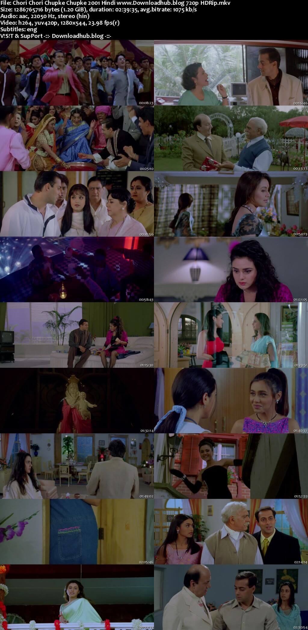 Chori Chori Chupke Chupke 2001 Hindi 720p HDRip ESubs