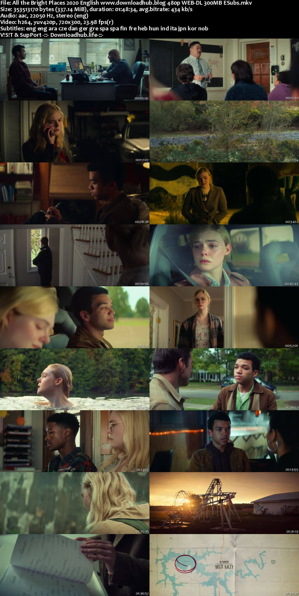 All the Bright Places 2020 English 300MB NF Web-DL 480p MSubs