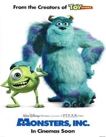 Monsters, Inc. 2001 Hindi Dual Audio BRRip Full Movie 720p Download