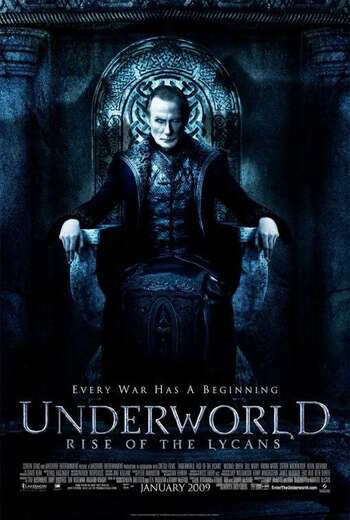 Underworld Rise of the Lycans 2009 Hindi Dual Audio 500MB BluRay 720p ESubs HEVC