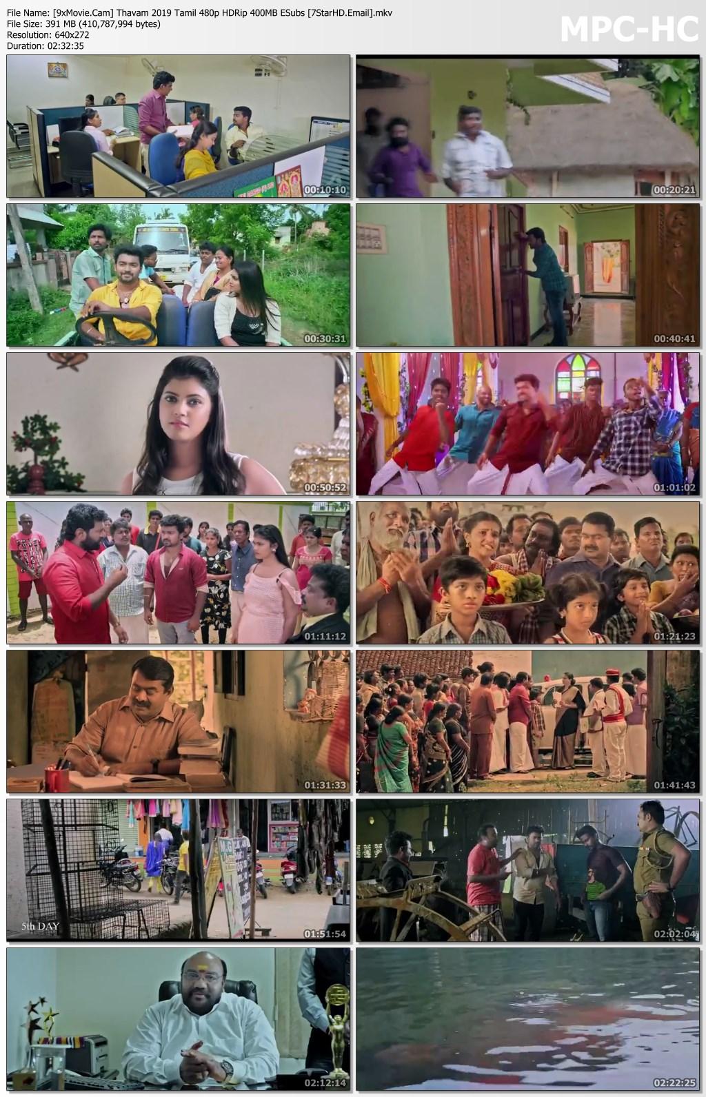 Thavam 2019 Tamil 480p HDRip x264 400MB ESubs