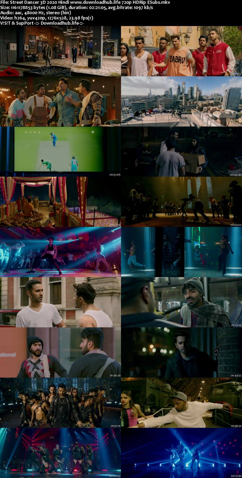 Street Dancer 3D 2020 Hindi 720p HDRip ESubs
