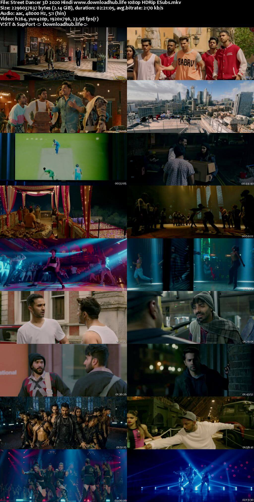 Street Dancer 3D 2020 Hindi 1080p HDRip ESubs