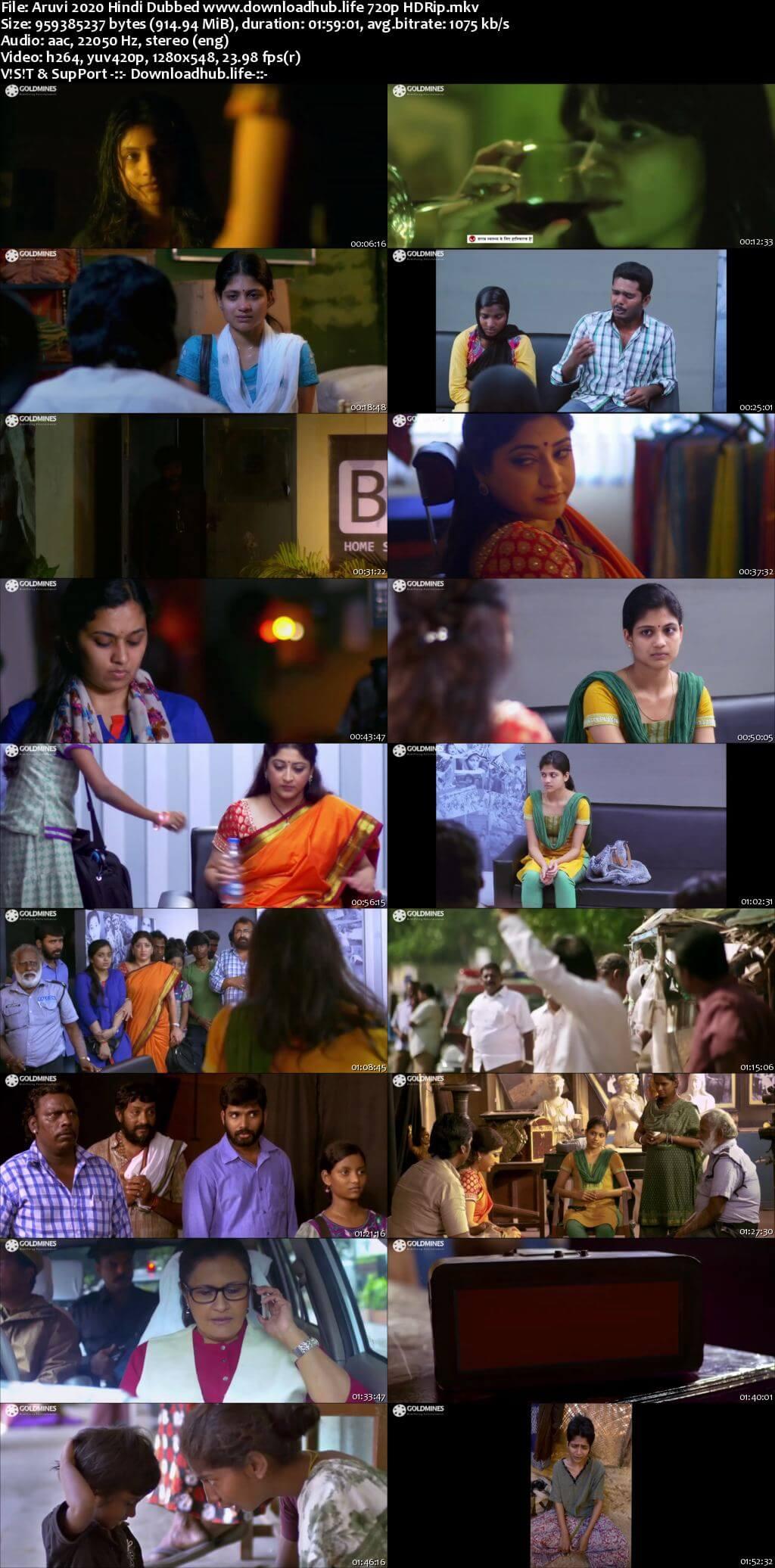 Aruvi 2020 Hindi Dubbed 720p HDRip x264